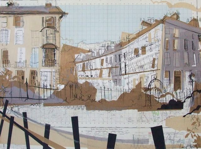 India Street from Circus Gardens Collage with Mixed Media 2016, 76 x 56cm This 'drawing' features in the BBC documentary 'New Town' on BBC 2 Scotland at 9pm on 20th September 2016. The programme...