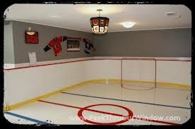 17 best ideas about hockey theme bedrooms on pinterest hockey room hockey bedroom and boys - Boys basement bedroom ...