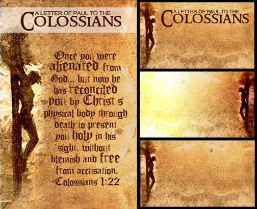 BOOK OF COLOSSIANS CHURCH BULLETIN