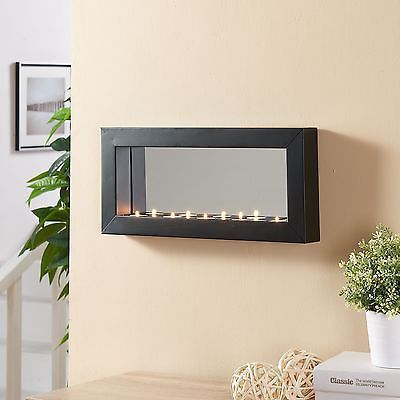 Candle Wall Sconce Horizontal Mirror Tealight Sconces Metal Frame Modern New