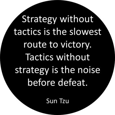 "Sun Tzu said, ""one hundred victories in one hundred battles is not the height of excellence. To attain victory over your adversary without battle demonstrates the height of excellence."""