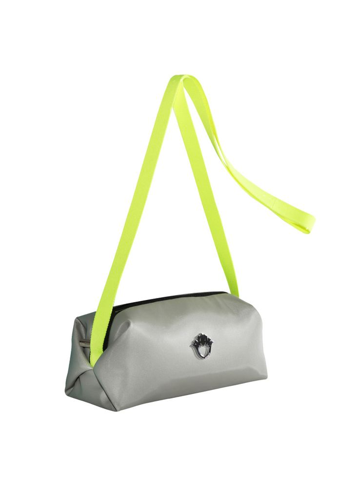 GOSHICO, ss2015, Little cross body bag, light grey. To download high or low resolution photos view Mondrianista.com (editorial use only).