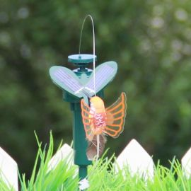Solar Power Dancing Flying Fluttering Butterflies Hummingbird Garden Decor