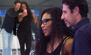 She is a fearsome competitor who hates to lose but Serene Williams was only occupied by which angle showed off her best side in in snaps with Patrick Mouratoglou at Perth Airport.