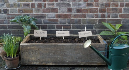 Build a window box from recycled scaffolding boards