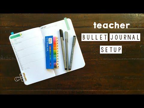Teacher Bullet Journal Setup - September - YouTube