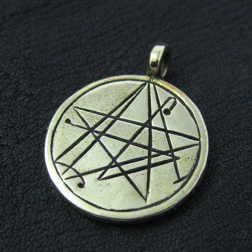 Bronze Simon Necronomicon pendant from The Sunken City by DaWanda.com