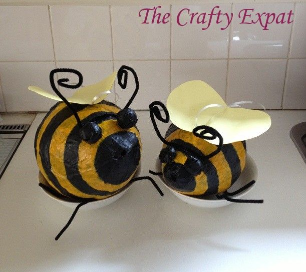 My craft nightmare or how to make a bee with a balloon