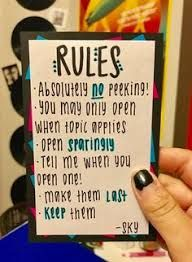 Image result for open when letter rules