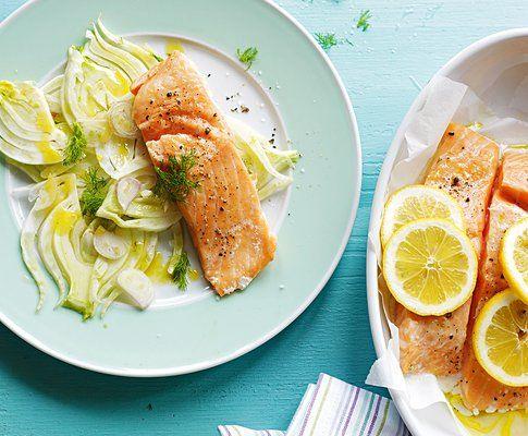 Trancio di salmone con insalata di finocchi