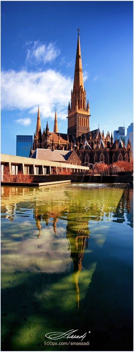 Panoramic View of St Patrick's Cathedral, Melbourne, Australia