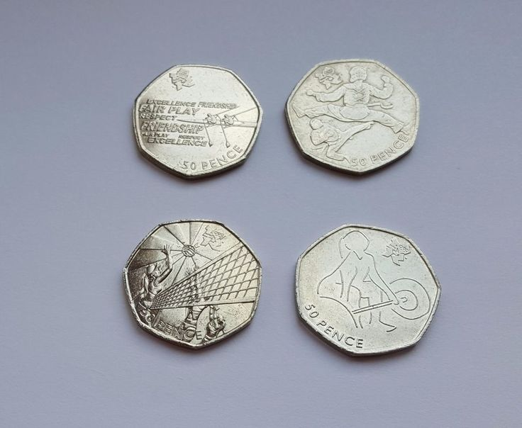 50p coins Fifty pence x 4 Olympics  Rowing Weightlifting Taekwondo Volleyball  £8 or Best Offer Ebay Uk Item Number 263211361365