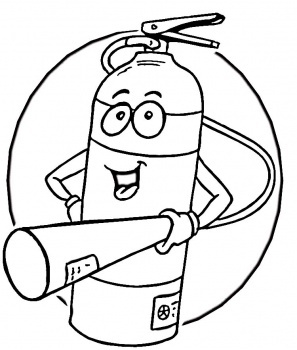 kids fire prevention coloring pages - photo#18