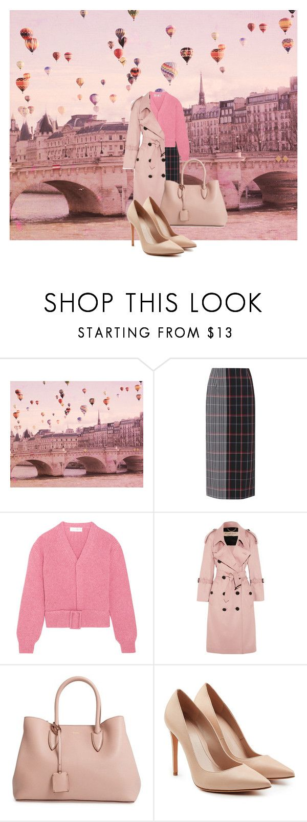 """""""Up in the Air Balloon"""" by mpmongillo ❤ liked on Polyvore featuring Victoria Beckham, Burberry, MaxMara and Alexander McQueen"""