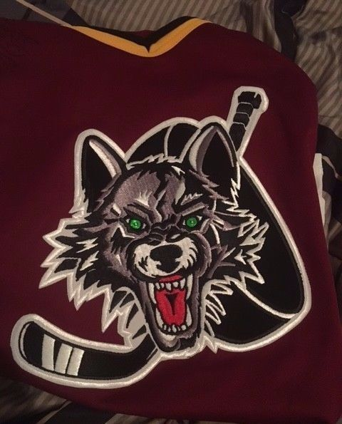 CHICAGO WOLVES BAUER PROWEAR Adult Hockey Jersey SIZE L #Bauer #ChicagoWolves