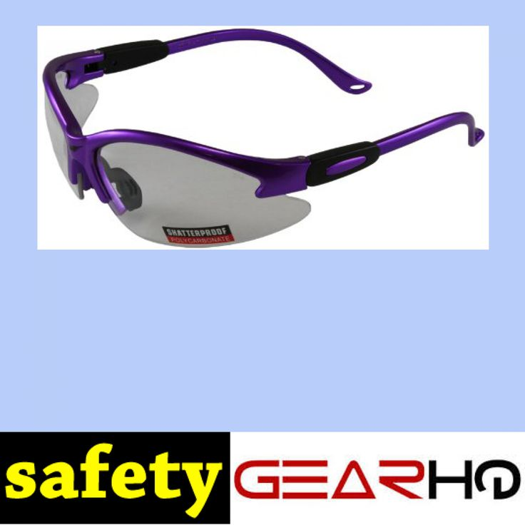 Global Vision Safety Shop Glasses (Purple Frame/Clear Lens) http://www.safetygearhq.com/product/personal-safety/protective-eyewear/global-vision-safety-shop-glasses-purple-frameclear-lens/