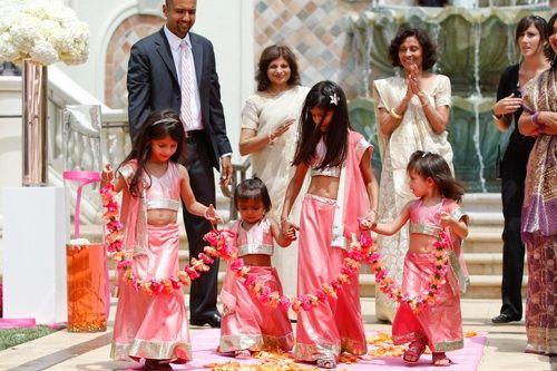 Shawnayamamoto.com, flower girls, indian wedding, pink flower girl outfit ideas, adorable wedding styles