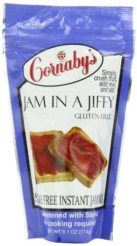 Cornaby's Sugar-Free Jam in a Jiffy - Instant Fresh or Freezer Jam Mix, Stevia sweetened, No Cook Cornaby's