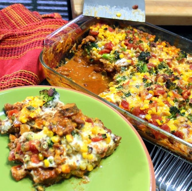 Inspired By eRecipeCards: Loaded TWICE BAKED POTATO Casserole with Freezable Tips - Church PotLuck Main Course