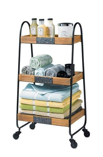 Fabulous bathroom organizer. I want to find this/figure out how to build it.