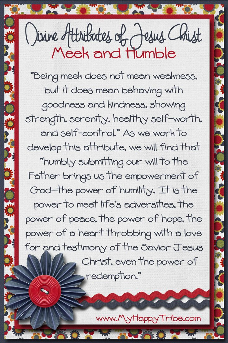 60 Character Traits of Christ