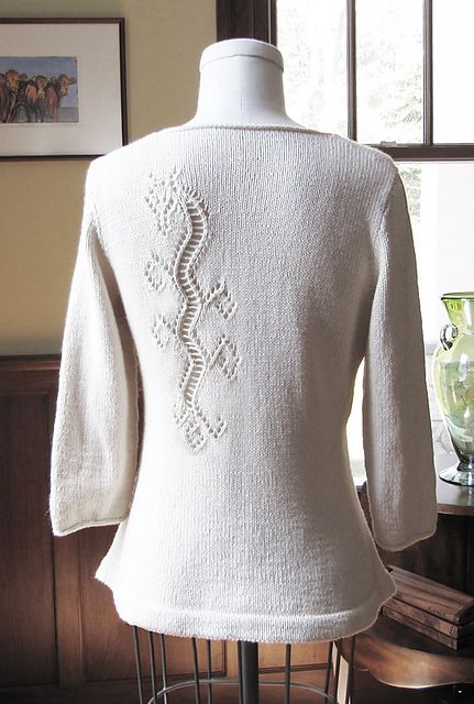 Ravelry: Dragon Lace Pullover pattern by Angela Hahn