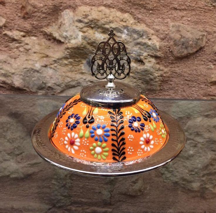 UNIQUE COPPER / TURKISH CERAMIC BOWL