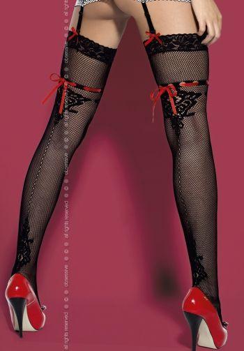 Medias fantásticas de suave malla con pasa-cinta.  lenceria sexy, lenceria intima, disfraces, pezoneras, disfraces sexys, medias, pantis, ligueros, tangas, body, bodystocking, lenceria masculina, calzoncillos, calzoncillos con relleno, boxers, slip, tanga masculino, camisón, pijama, braga, tanga, lenceria femenina, bañadores,
