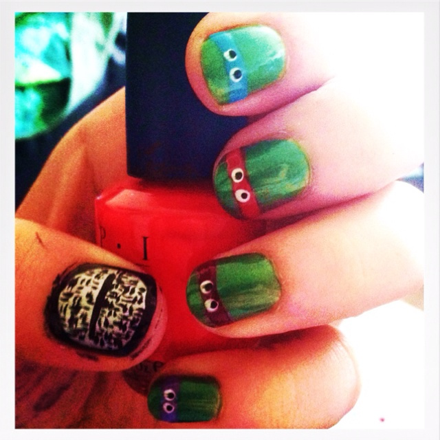 TMNT Nails of the Day