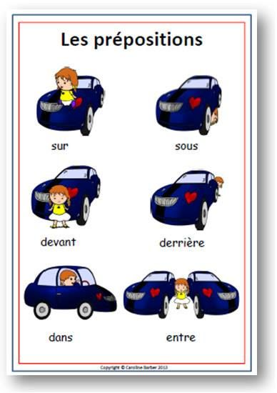 French - les prepositions
