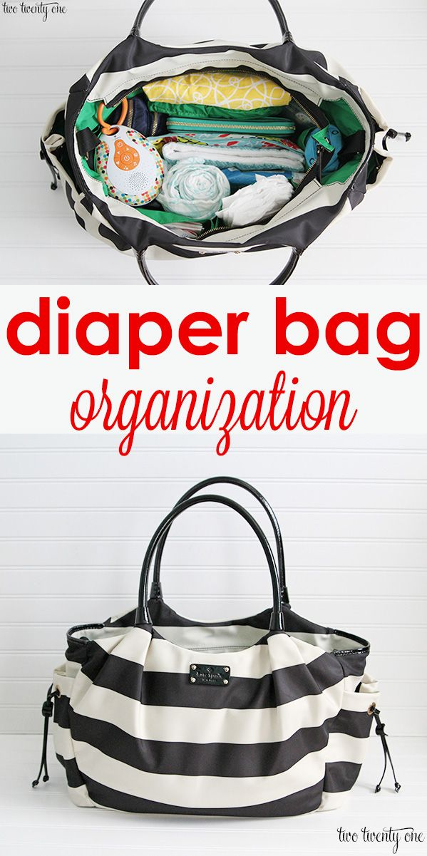 Diaper bag organization. Great tips for keeping your diaper bag organized so you can find the things you need in a hurry.