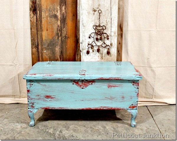 blue distressed furniture, Petticoat Junktion