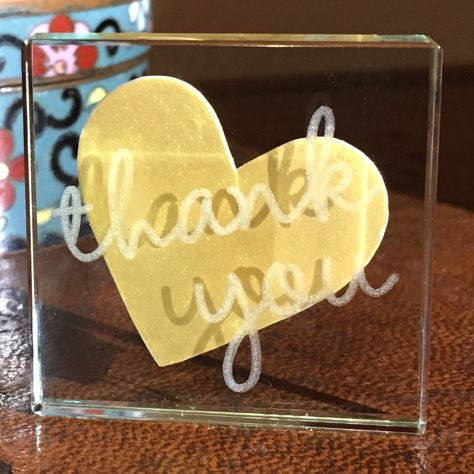 A handwritten 'thank you' note is engraved on top of a lovely gold heart - beautiful gift for a teacher who is also your friend. Let them know how much their help and support means to you. #Love #Teacher #Gift #ThankYou #Special #Heart #Spaceform #London