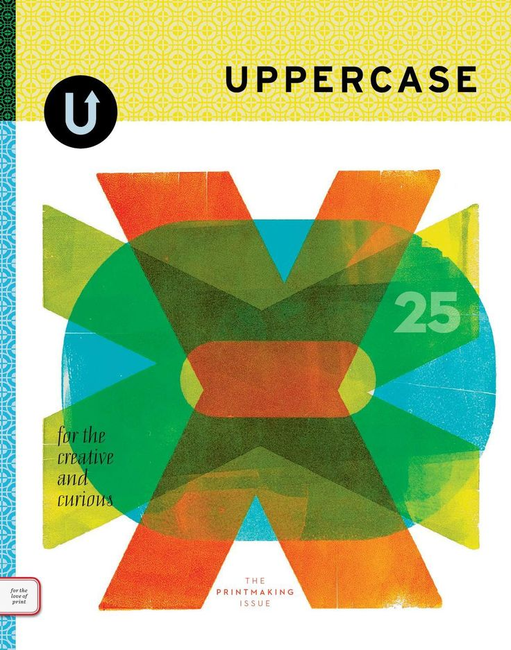 UPPERCASE 25 magazine cover