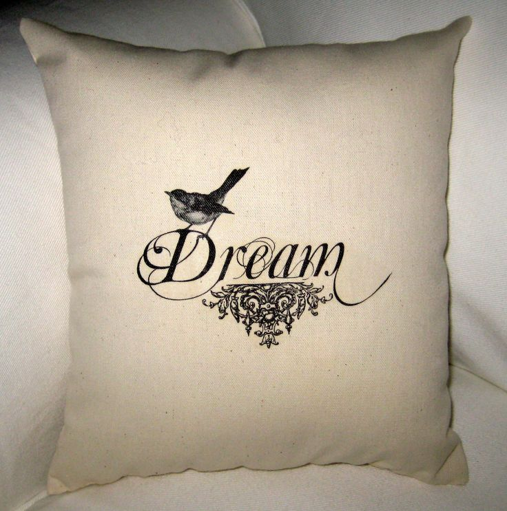 Dream Bird Pillow, French Country Cushion, Easter Spring Neutral Home Decor, Shabby Chic, Paris Inspired. $14.79, via Etsy.