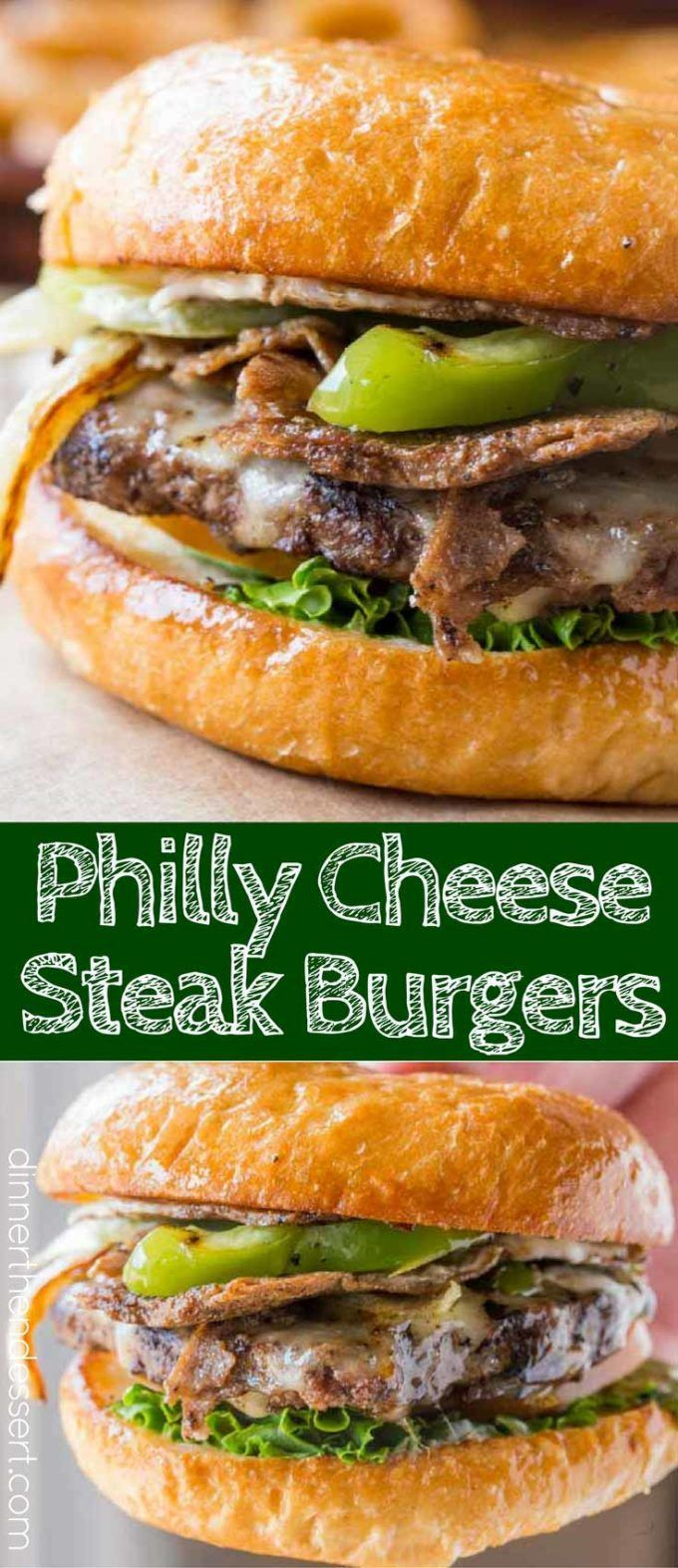 Philly Cheese Steak Burgers are the perfect cookout burger that friends and family will love!
