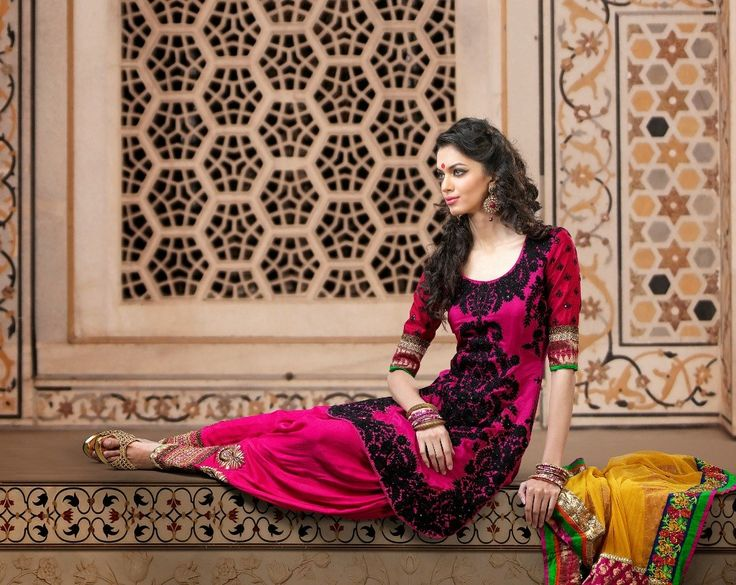 Fancy Deep Pink Salwar Kameez >> http://www.gravity-fashion.com/11228-fancy-deep-pink-salwar-kameez.html