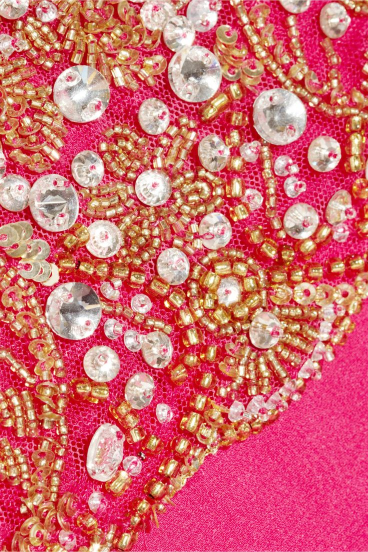 Роскошное Платье Цвета Фуксии с Камнями
