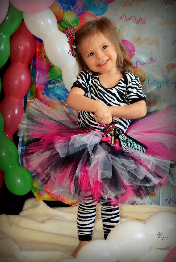 Emma Tutu Great for Zebra themed Birthdays by princesstutus2010, $20.00