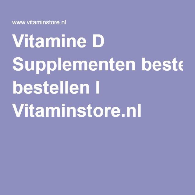 Vitamine D Supplementen bestellen l Vitaminstore.nl