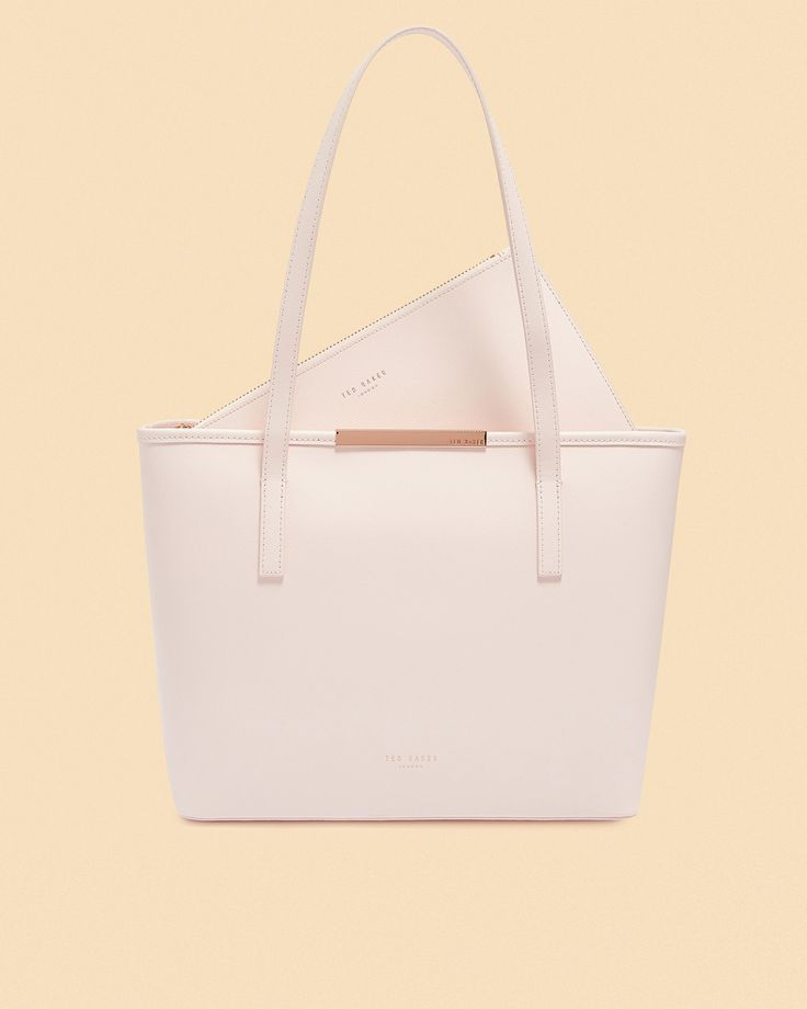 Ted Baker Small leather shopper bag Baby Pink