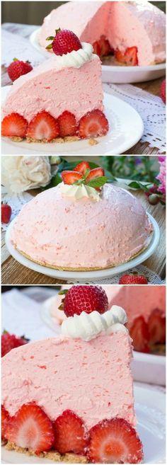 postres caseros, tarta de crema de fresas, decoración de fresas,