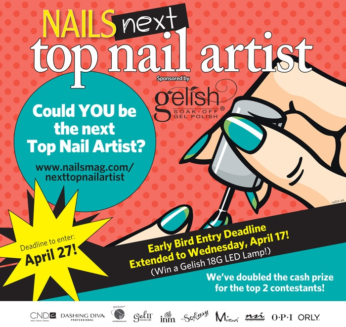 NAILS Magazine is looking for the Next Top Nail Artist. Enter your nail art designs and win! www.nailsmag.com