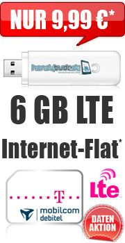 Internet-Flat LTE 6000 mit Telekom Internet-Flat LTE 6000 9.99 Aktion Vertrag…