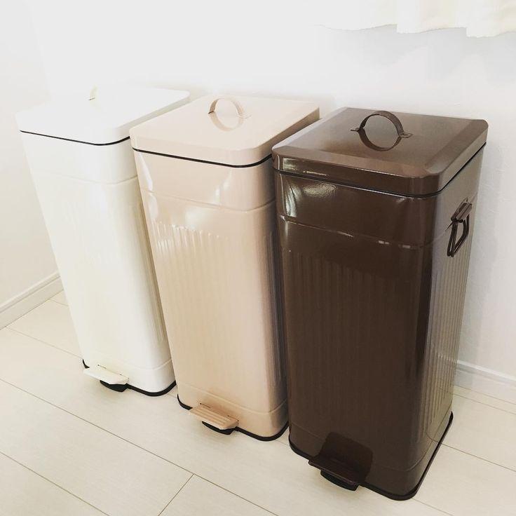 ゴミ箱が届きました〜〜☻ #ゴミ箱#キッチン
