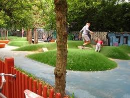 kids grass mounds
