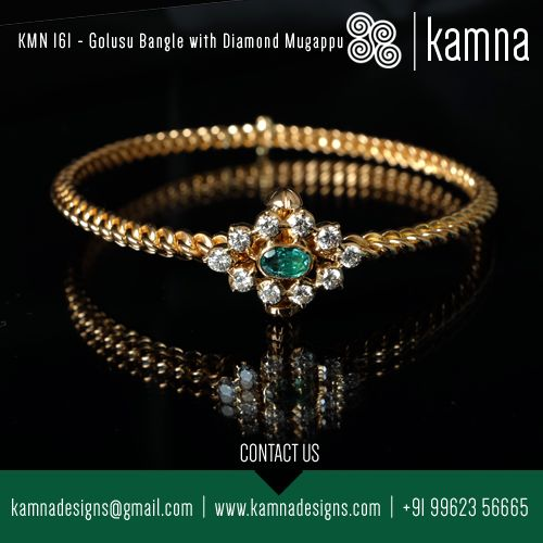 Golusu Bangle with Diamond Bangle. Call us for more such options..