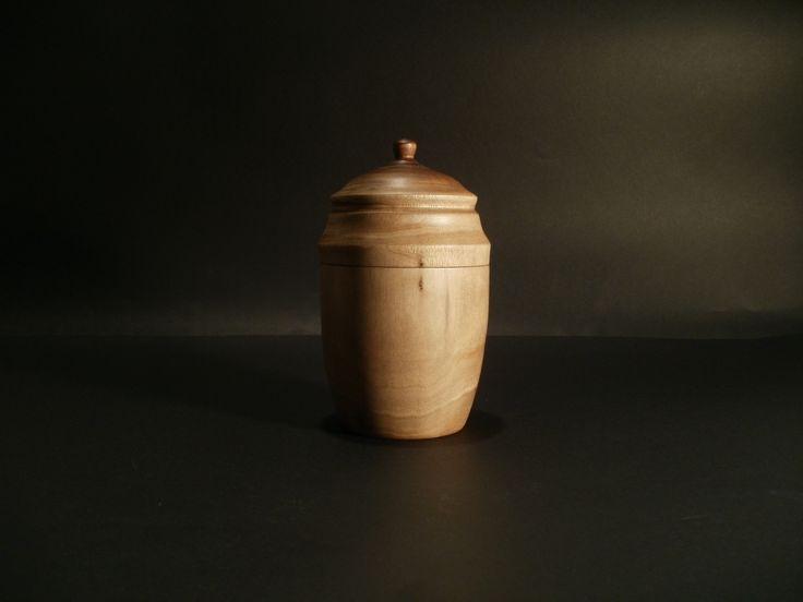 Lidded walnut box