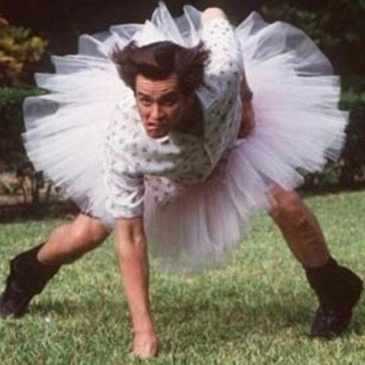 Ace Ventura...dumb movie but I still like it...it made me laugh..lol