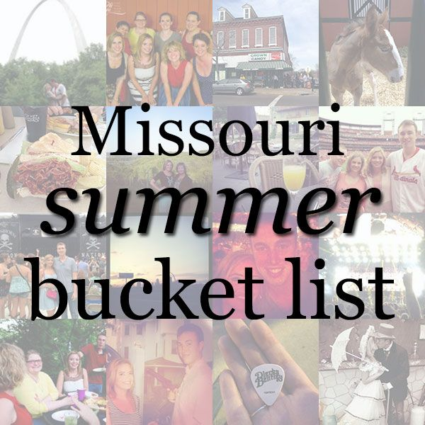 Things to do in Missouri in the summer!